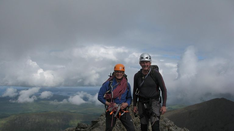 "Mr Vardy (right) said his friend Mr Moran (left) is ""at the top of his game"" as a mountaineer"