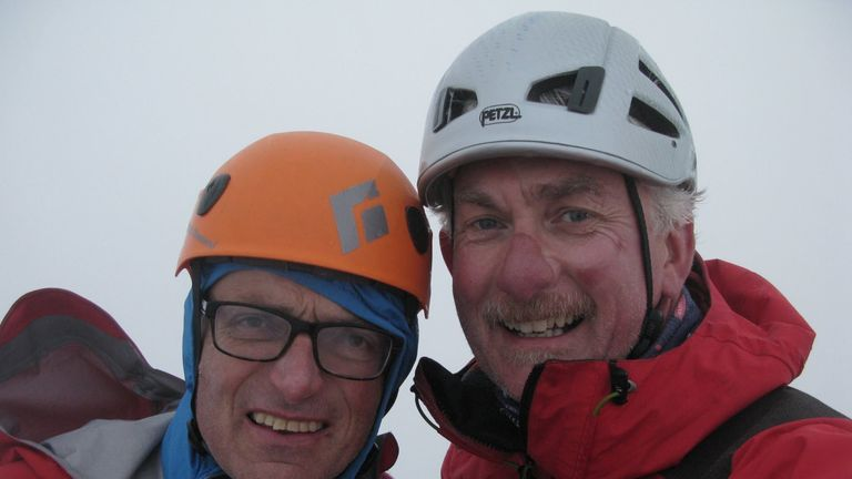 Mr Vardy (right) and Mr Moran (left) have known each other for two decades, and have climbed together extensively