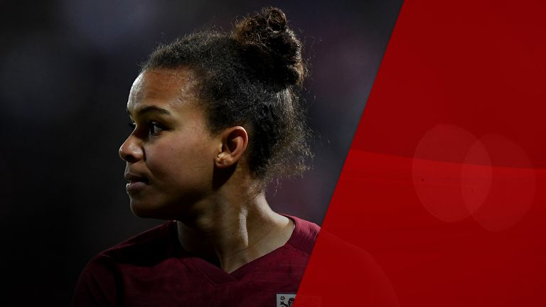 Nikita Parris of England during the International Friendly between England Women and Spain Women at the County Ground on April 09, 2019