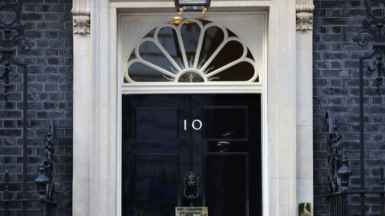 LONDON, ENGLAND - JUNE 09: A general view of 10 Downing Street on June 9, 2017 in London, England. After a snap election was called by Prime Minister Theresa May the United Kingdom went to the polls yesterday. The closely fought election has failed to return a clear overall majority winner and a hung parliament has been declared. (Photo by Dan Kitwood/Getty Images)