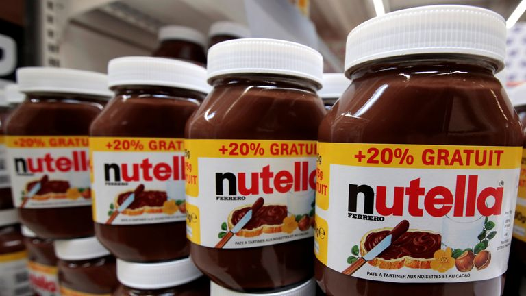 The plant produces 600,000 jars of Nutella