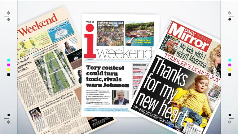 Saturday's papers