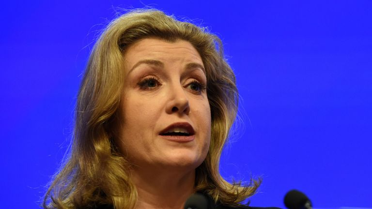 Defence Secretary Penny Mordaunt speaks at the IISS Shangri-La Dialogue summit in Singapore