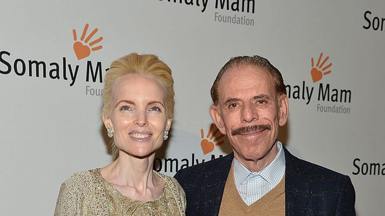 "Mary and Peter Max attend the Somaly Mam Foundation Gala ""Life Is Love"" at Gotham Hall on October 23, 2013 in New York City."