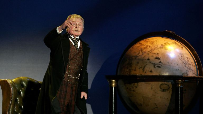 The trip was designed to mirror the journey of Phileas Fogg, portrayed here on stage by Sir Derek Jacobi