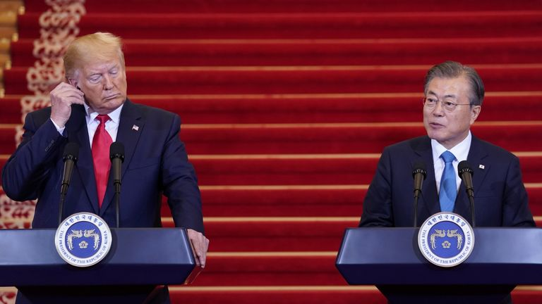President Trump and Moon Jae-in confirmed the meeting at a joint press conference
