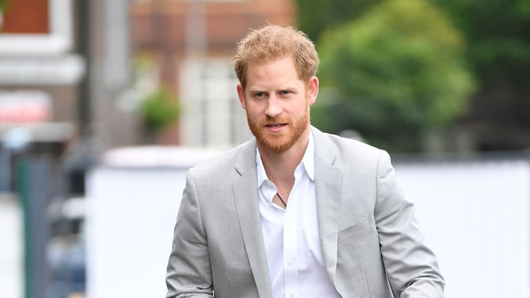 Prince Harry arrives at the launch of Made by Sport in London