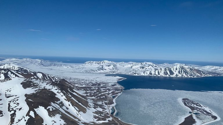 Mr Ketchell captured an image over Provideniya Bay in Russia