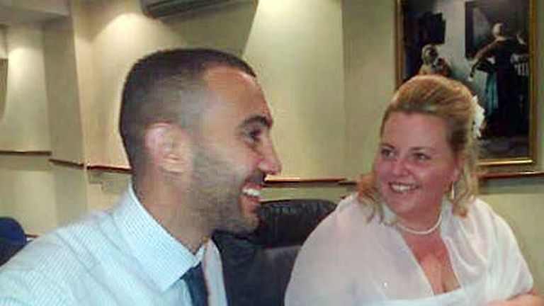 Charisse Ann O'Leary and husband, one of the London Bridge terrorists Rachid Redouane on their wedding day in 2012. Pic: Mirrorpix
