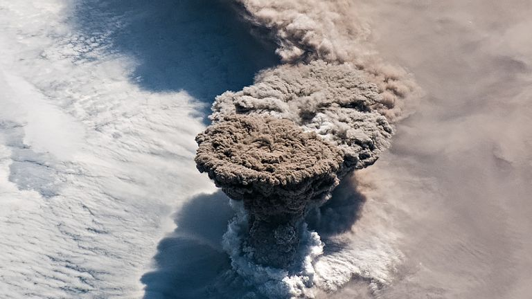 Eruption of Raikoke Volcano