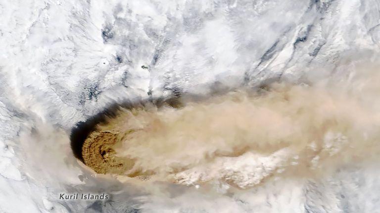 Eruption of Raikoke Volcano