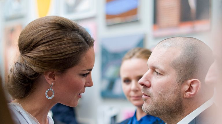 The Duchess of Cambridge spoke to the London-born designer Jonathan Ive at the Royal Academy of Arts in 2015.