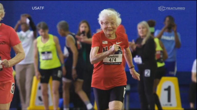 103-year-old runner. Pic: ABC