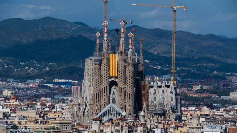 The basilica is a popular tourist attraction in Barcelona, and boasts more than 4 million visitors per year