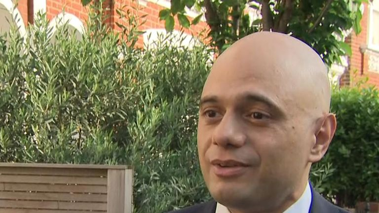 Sajid Javid 'looks forward' to the results of the latest Tory leadership ballot