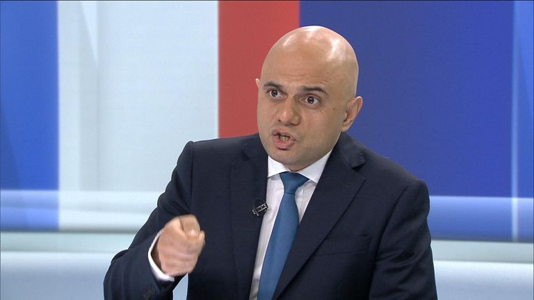 Home Secretary and Tory leadership contender Sajid Javid spoke to Sky News about the hypocrisy of middle-class drug taking