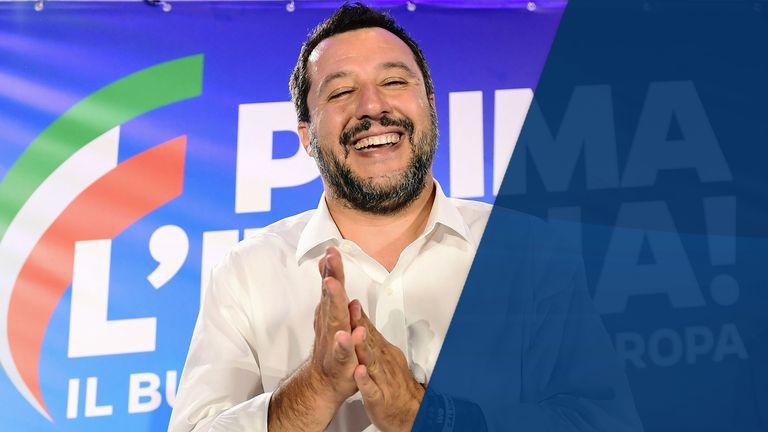 Matteo Salvini would draw strength from a Nigel Farage victory in Peterborough