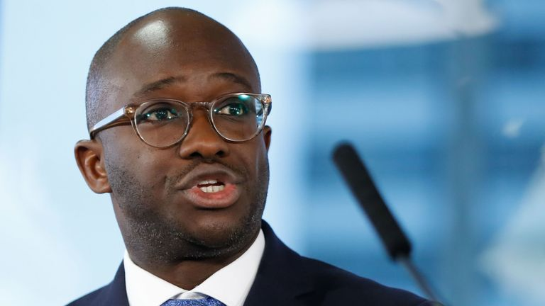 Conservative MP Sam Gyimah, the former universities minister who resigned over the prime minister's Brexit deal, speaks at an event organised by the People's Vote campaign group supporting a second referendum on the Brexit vote in London on January 7, 2019. (Photo by Tolga AKMEN / AFP) (Photo credit should read TOLGA AKMEN/AFP/Getty Image