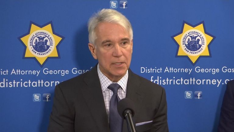 District Attorney George Gascon said he wanted to make the justice system 'colourblind'
