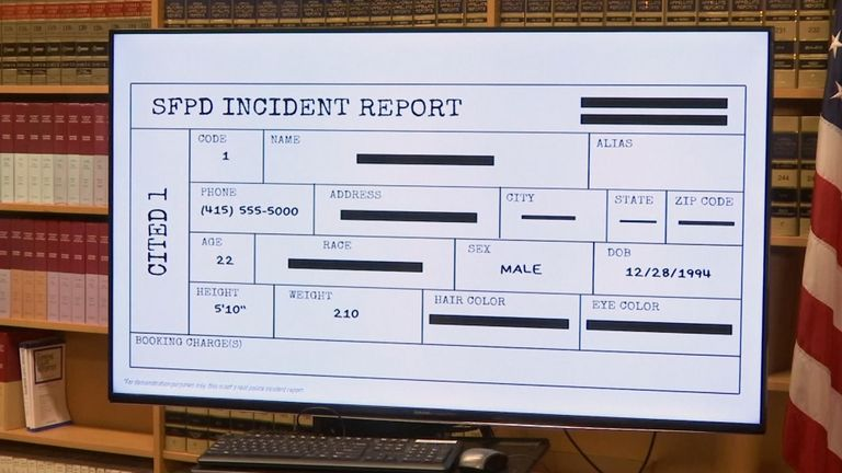 Any details that might identify race are removed from the initial incident report while charges are considered