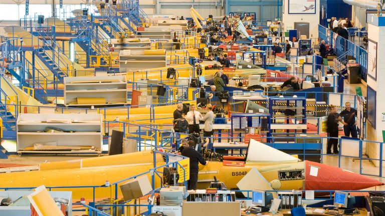 Undated BAE Systems handout file photo of Eurofighter Typhoon aircraft being assembled at BAE Warton in Lancashire. The UK supplies Saudi Arabia with the aircraft. Campaigners have won a landmark legal challenge against the Government over UK arms sales to Saudi Arabia. PRESS ASSOCIATION Photo. Issue date: Thursday December 27, 2018. Campaign Against Arms Trade (CAAT) argued that the decision to continue to license military equipment for export to the Gulf state, which is leading a coalition of