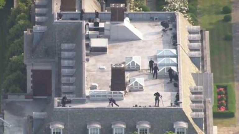 Snipers were seen on the roof of Winfield House
