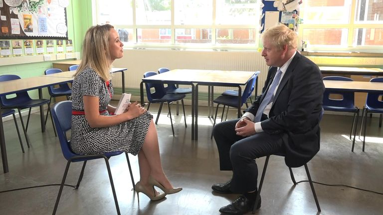 Sophy Ridge talks to Boris Johnson