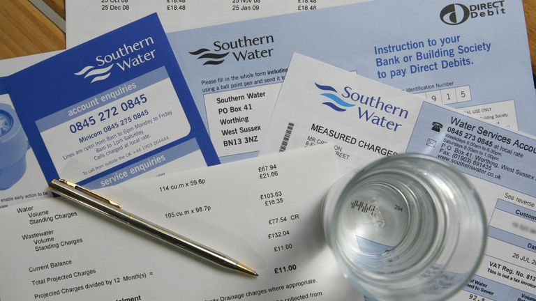 Customer bills from Southern Water