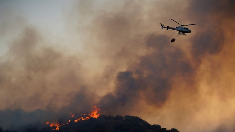 Two wildfires are said to still be burning in the Toledo region in central Spain
