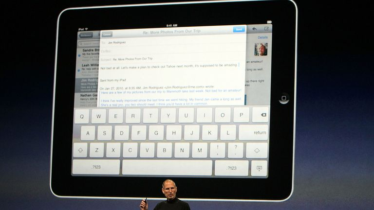Apple CEO Steve Jobs speaks during an Apple Special Event January 27, 2010 at Yerba Buena Center For The Arts in San Francisco, California. Steve Jobs announced the highly anticipated....