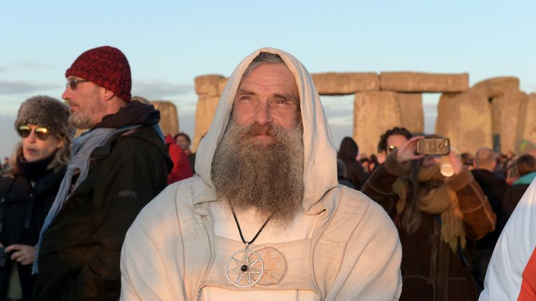 Revellers at Stonehenge welcome the Summer solstice