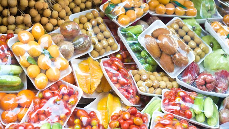 Nearly half of supermarket packing is not easily recyclable