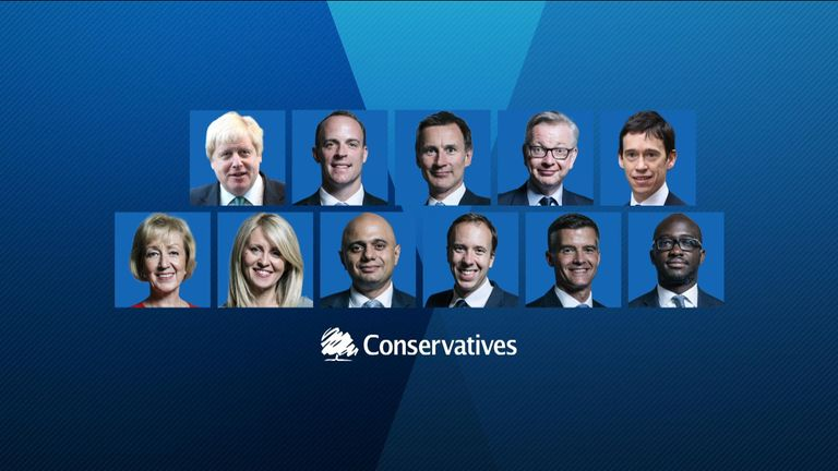 Tory leadership contest figures