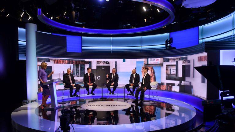 Boris Johnson, Jeremy Hunt, Michael Gove, Sajid Javid and Rory Stewart appear on BBC TV's debate