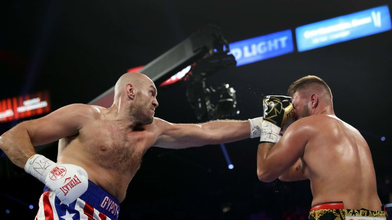 Fury said his opponent 'took some good punches'