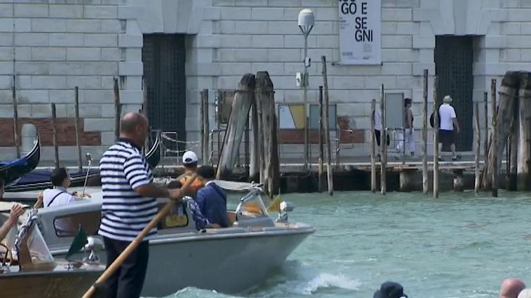 To many Venetians, mass tourism poses a serious risk to the city's building and ecosystem