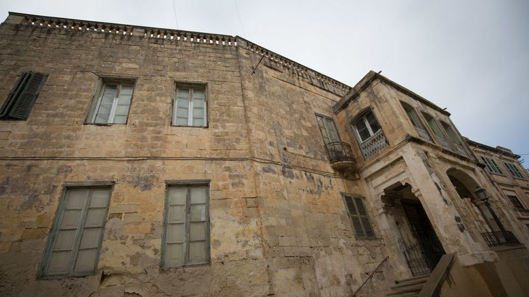 The exterior of Villa Guardamangia is seen on November 26, 2015 in Valletta, Malta