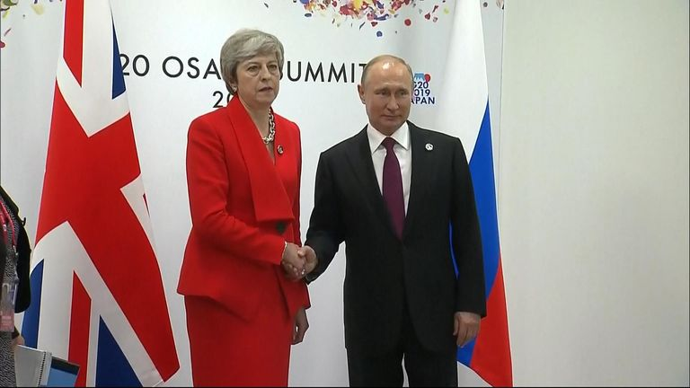 Theresa May met with Vladimir Putin for tense G20 talks