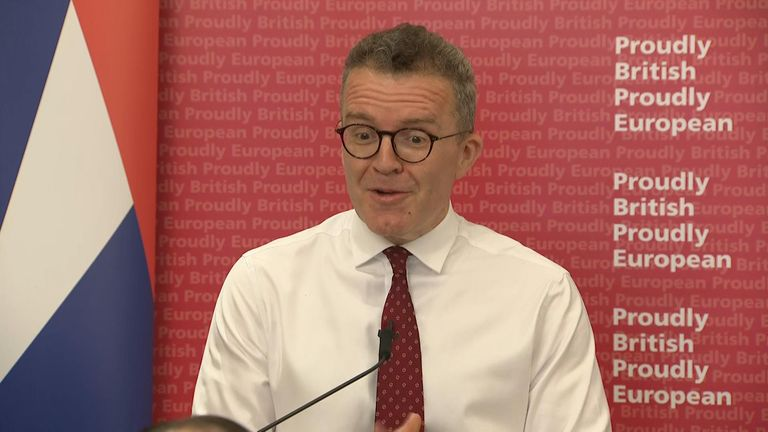 The deputy leader said in a speech of his wish for a new referendum as the value of the EU and the Labour party are similar.