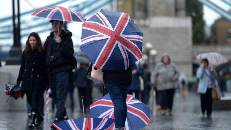 The Met Office has issued four yellow severe weather warnings for rain. File pic