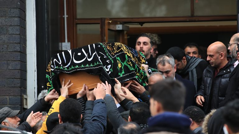 A funeral service was held for the teenager, who was of Lebanese heritage, at Dar Al Hadi Foundation in Manchester