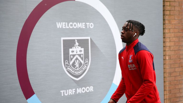 BURNLEY, ENGLAND - MARCH 02: Aaron Wan-Bissaka of Crystal Palace arrives at the stadium prior to the Premier League match between Burnley FC and Crystal Palace at Turf Moor on March 02, 2019 in Burnley, United Kingdom. (Photo by Alex Livesey/Getty Images)
