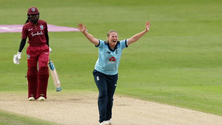 England seamer Anya Shrubsole says she was delighted to contribute with the bat as her side wrapped up an ODI series win over West Indies.