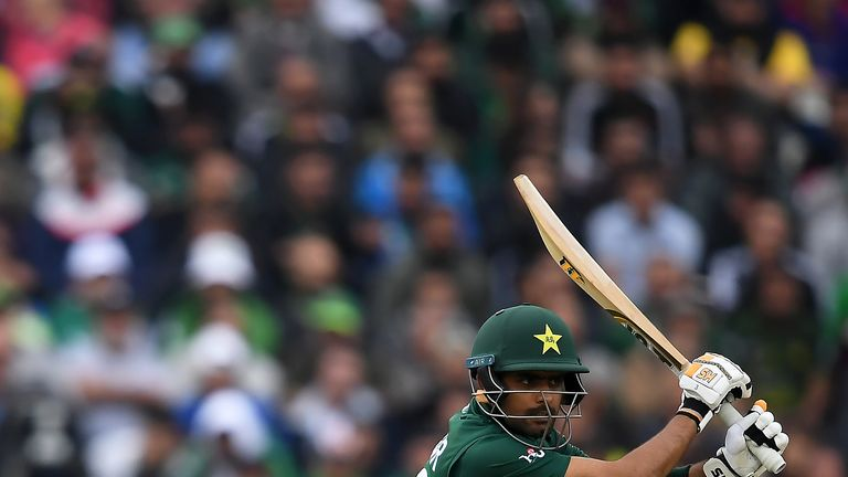 BIRMINGHAM, ENGLAND - JUNE 26:  during the Group Stage match of the ICC Cricket World Cup 2019 between New Zealand and Pakistan at Edgbaston on June 26, 2019 in Birmingham, England. (Photo by Alex Davidson/Getty Images)