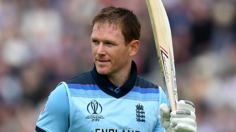 Eoin Morgan smashed 17 sixes in 148 off 71 balls to help England to a 150-run win over Afghanistan