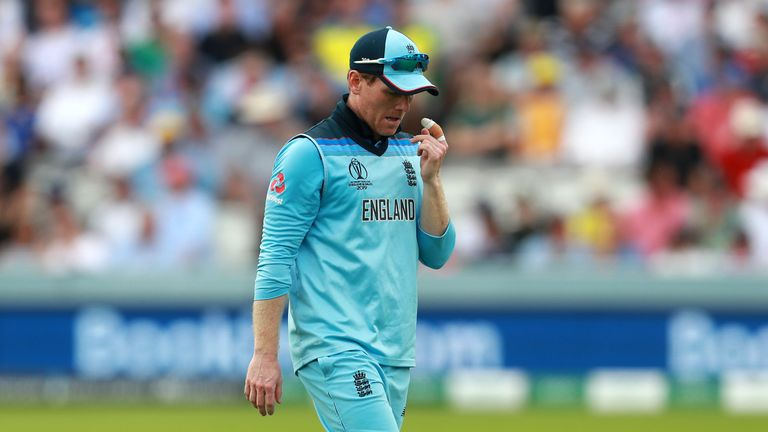 Eoin Morgan rubbishes accusations that England could be scared of Australia when asked about not beating the Aussies in a World Cup since 1992