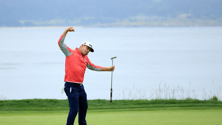 Relive the moment Gary Woodland wrapped up his US Open title in grand style, holing a 30-foot putt for birdie to complete a three-shot win at Pebble Beach