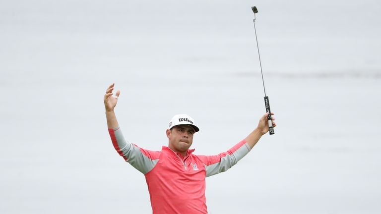 Incredible shots and key moments from the final day of the US Open at Pebble Beach, where Gary Woodland held off Brooks Koepka to win his first major title