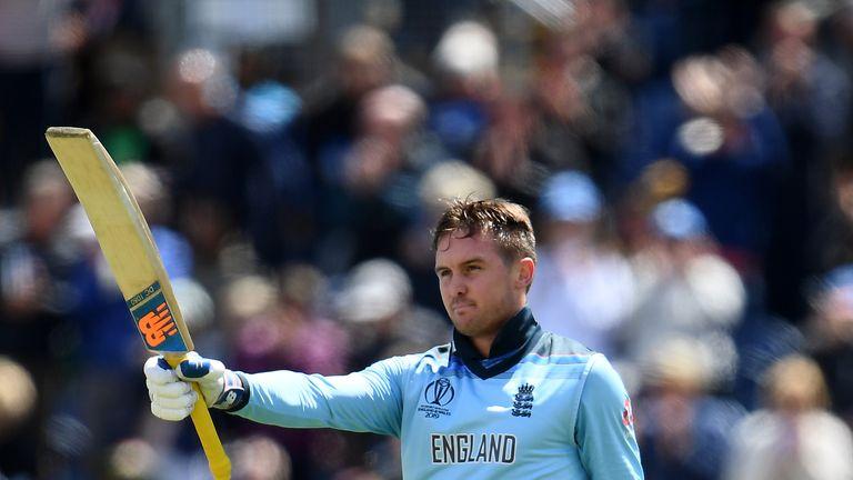 Jason Roy struck a fine century as England returned to winning ways against Bangladesh in Cardiff