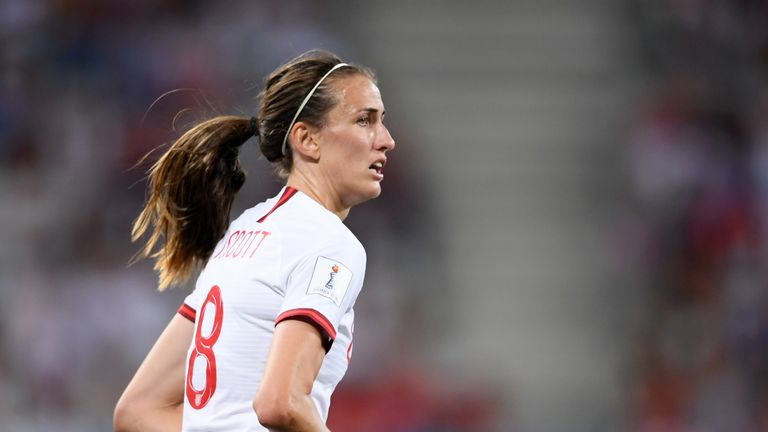 Manchester City and England midfielder Jill Scott believes the Lionesses' game against Germany selling out Wembley Stadium is a 'fantastic moment for women's football'
